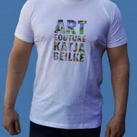 Artcouture T-Shirt, Herren, weiß