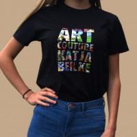 Artcouture T-Shirt, Damen, unisex, schwarz
