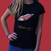 Artcouture T-Shirt, Damen, schwarz